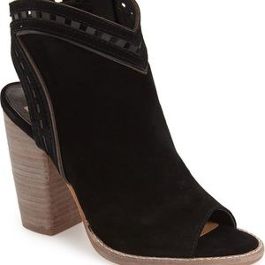 Dolce Vita Natasha suede leather cut-out booties.